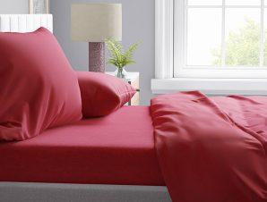Μαξιλαροθήκη Τεμάχιο 50X70 Dimcol Μελανζέ Red 10